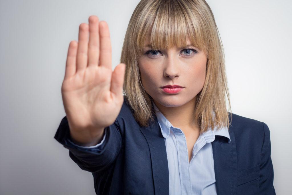 Stop sexuelle Belästigung