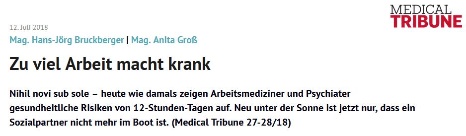 Artikel Medical Tribune